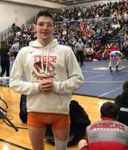 Mansfield Senior's Josh Lyons, a junior 126-pounder, became the fastest Tyger to 100 victories with his state-qualifying performance in the Division II district tournament at Norwalk.