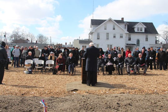 Around 100 people were at the site of what will be the Warren G. Harding Presidential Center for a ground-breaking ceremony Monday. Work has begun on the planned 12,000-square-foot museum slated to open next year.