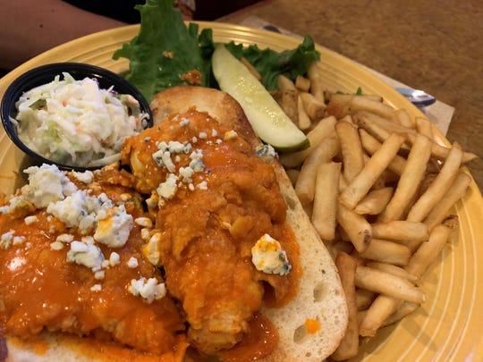 The buffalo chicken sandwich from Mel's Diner, Golden Gate.