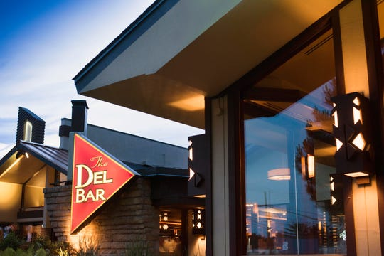 The Del-Bar's Prairie-style architecture was designed by James Dresser, a student of Frank Lloyd Wright.