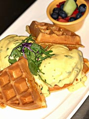 Cafe Agora prides itself on offering unique dishes made with fresh ingredients, such as the waffle Benedict.