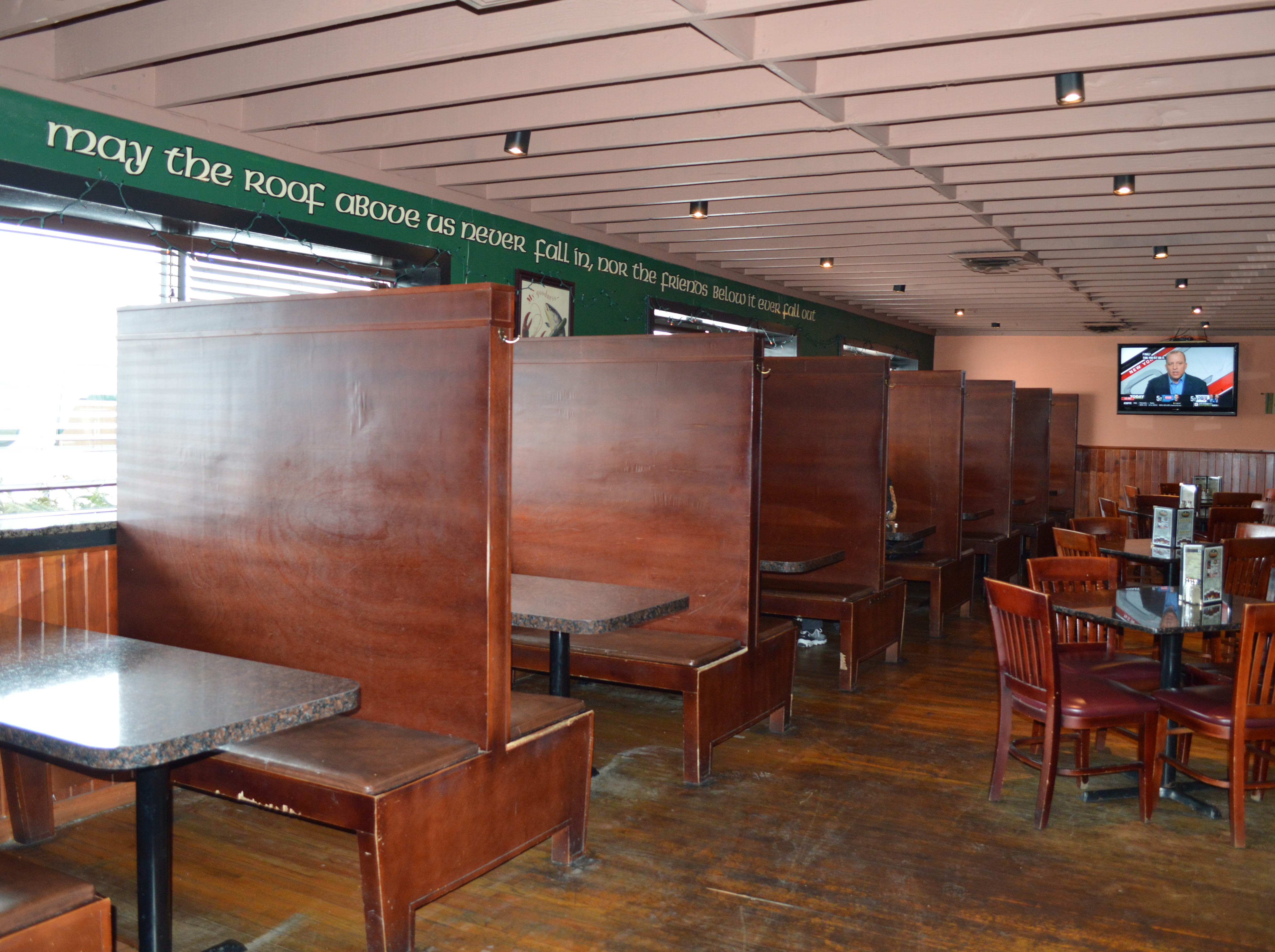 The Mulligans dining room and bar areas are almost completely separate.