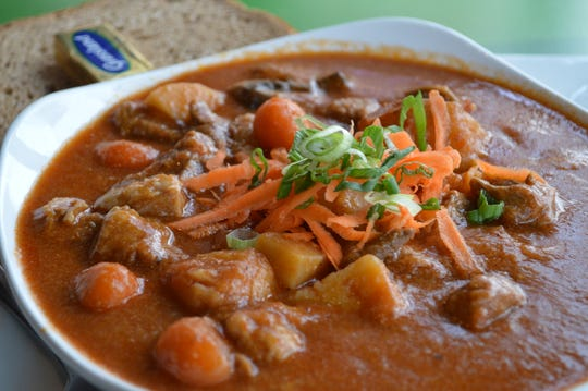 One of Mulligans' most popular Irish offerings is the Irish lamb stew, which has braised lamb shanks, potatoes, carrots, onions and parsnips. It's served with Irish stout bread and soup or salad for $13.95.