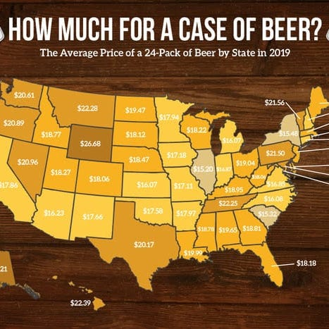 Wisconsin pays more for a case of beer than nearby states