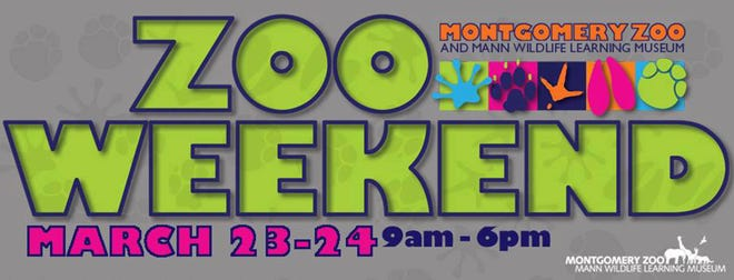 Zoo Weekend has been moved to March 23-24 due to weather forecasts.