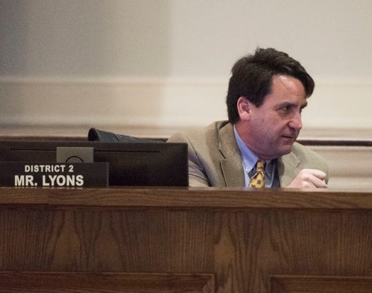 City Council member Brantley Lyons speaks during a presentation of new vacant home database technology at Montgomery City Hall in Montgomery, Ala., on Tuesday, March 5, 2019.