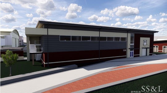 Artist rendering of the future 100th Fighter Squadron Operations Building, Dannelly Field, Ala. The 23,000 square foot facility will include simulator bays and secure areas to facilitate the future F-35A mission.