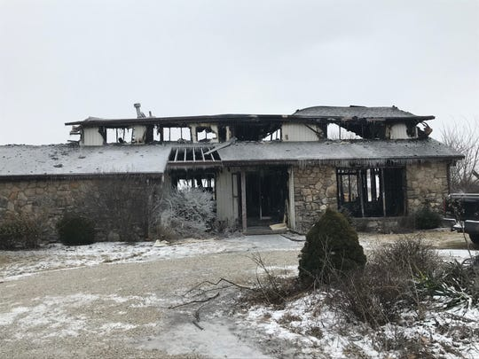 An early morning fire on Tuesday resulted in severe damage to a house at 6720 N. Walnut St. Firefighters from Hamilton Township, Eaton and Yorktown battled the blaze.