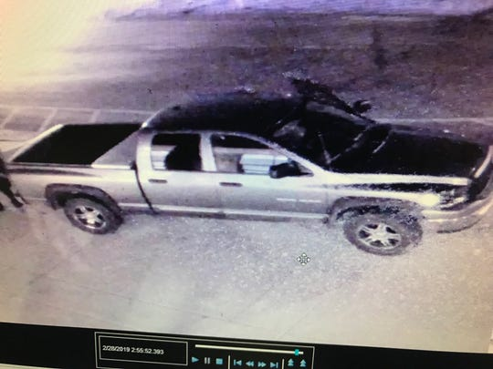 Rutherford County Sheriff's Deputies are looking for the driver of this truck, who they believe stole archery targets from Rockvale Elementary School.