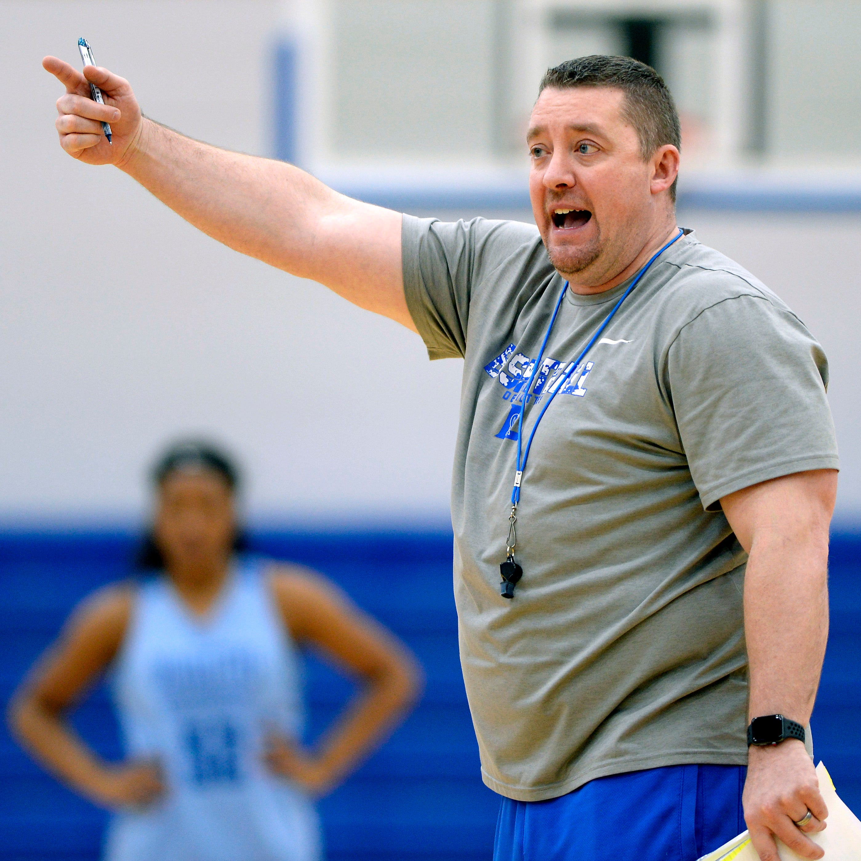 Four years after suspension over tanked game, national champion coach Cory Barrett back at state