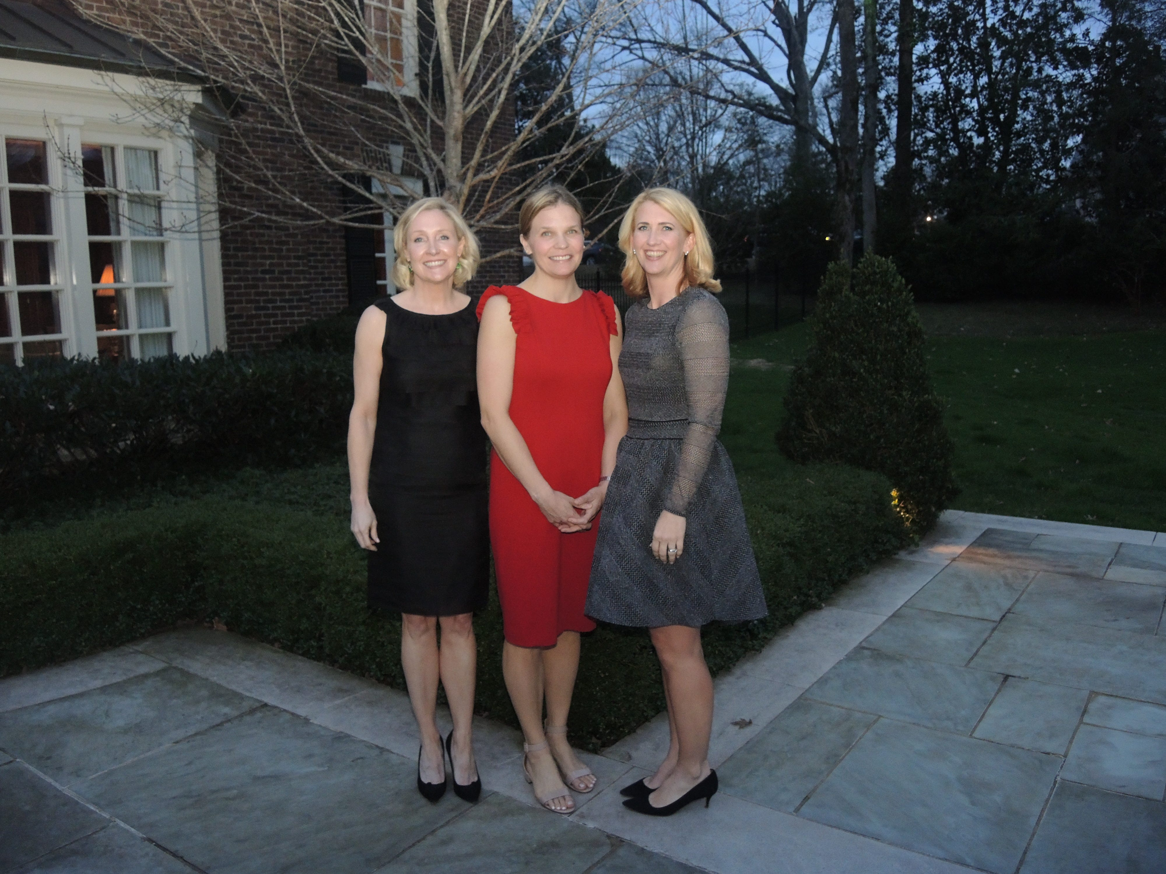 Swan Ball 2019 Auction Chairs Lise Morrow, left, Laura Bowen and Susan Weathersby at the Swan Ball 2019 Unveiling, held at the home of Kathy and Bobby Rolfe.