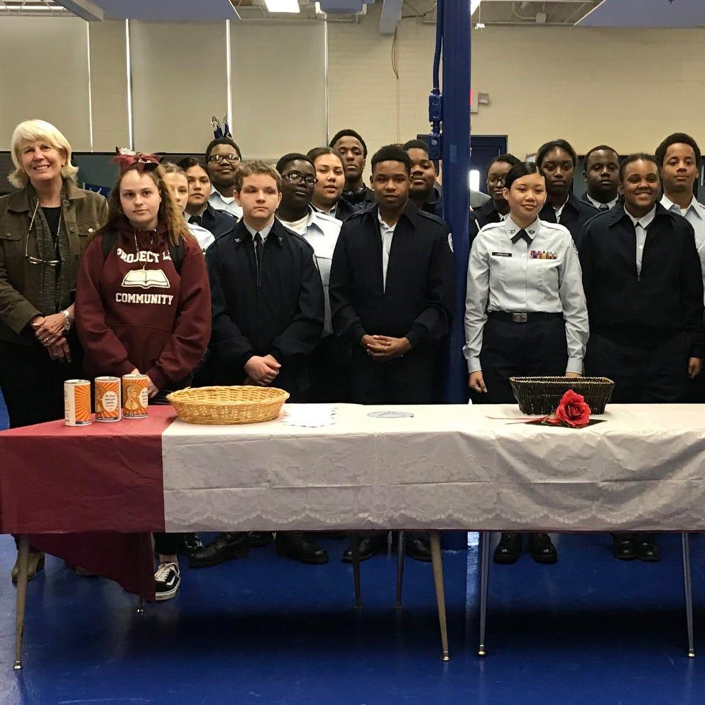 Maplewood High School JROTC cadets.