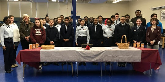 Maplewood High School JROTC cadets.