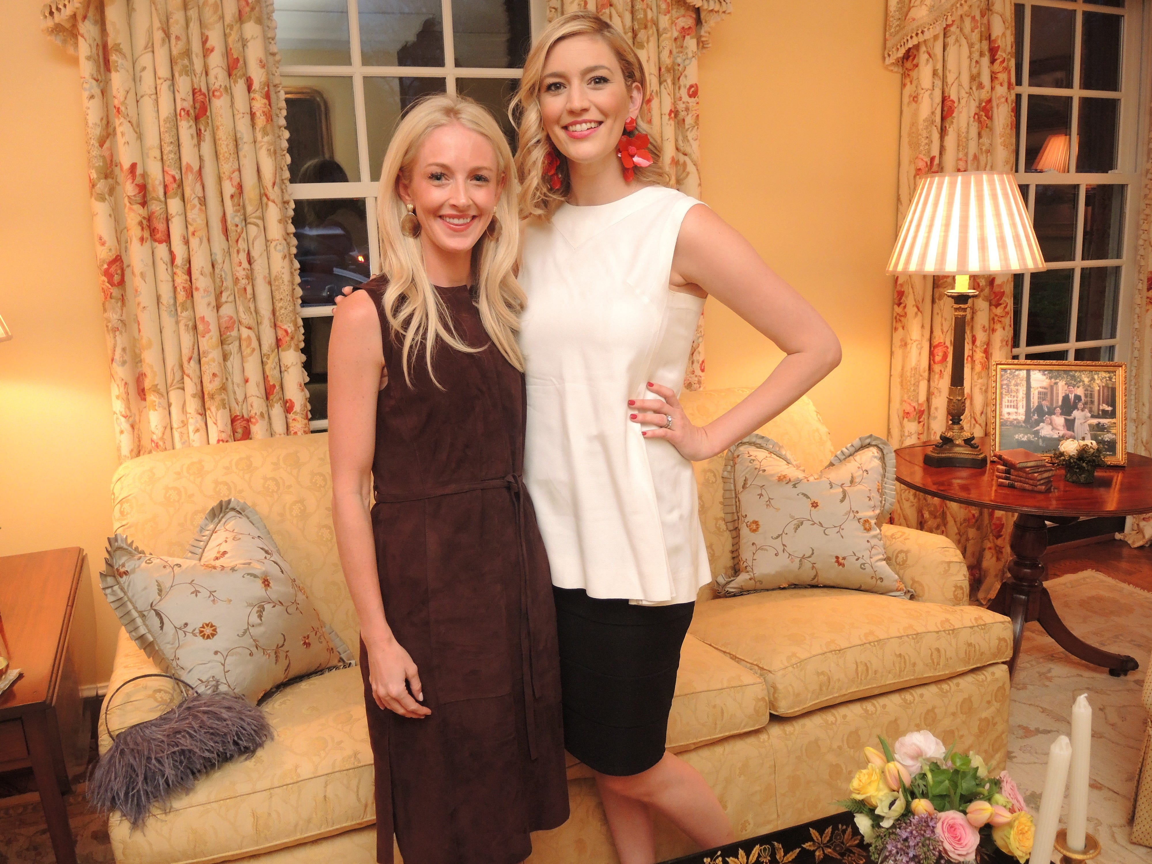 Swan Ball 2019 Late Party Chairs Elizabeth Frist, left, and Eileen Hart at the Swan Ball 2019 Unveiling, held at the home of Kathy and Bobby Rolfe.