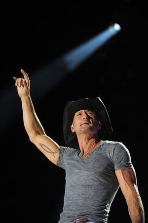 Country artist Tim McGraw will perform a free concert in downtown Nashville as part of the NFL Draft festivities on Friday, April 26.