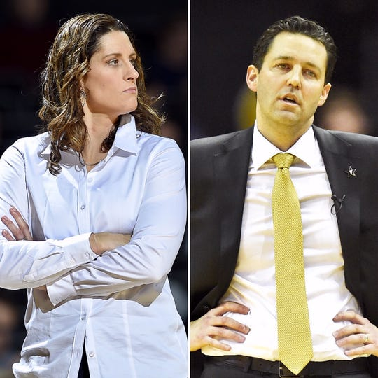 Vanderbilt women's basketball coach Stephanie White and men's basketball coach Bryce Drew have struggled through the 2018-19 season.