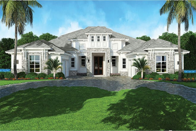 Del Fina model in Miromar Lakes has 8,601 total square feet.