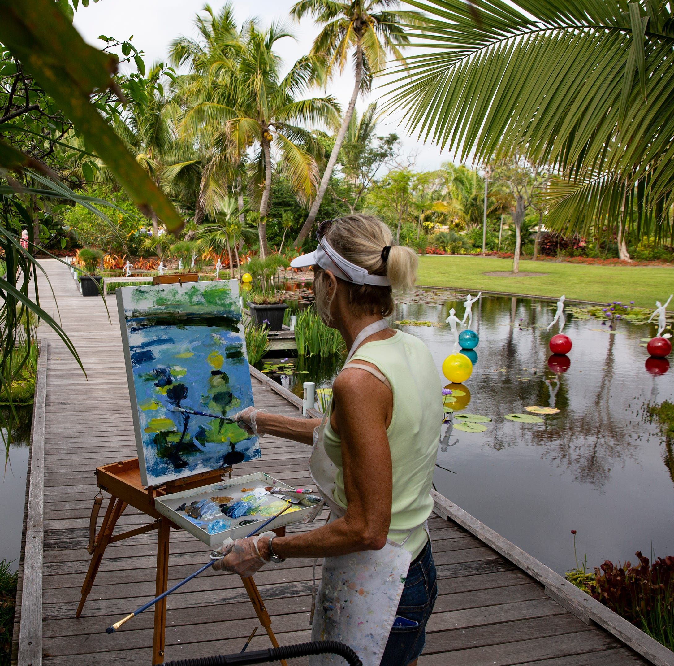 Nature's children: Green is the color for Naples art this month