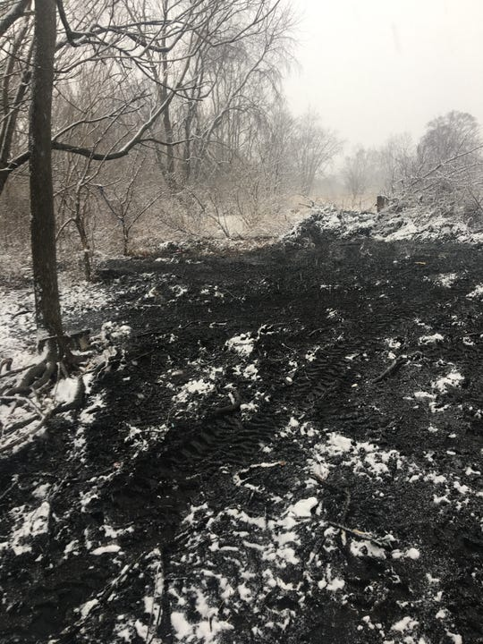 A submitted photo from Newark Homeless Outreach shows the scene of a former homeless camp. The outreach questioned what happened to the camp at a Newark City Council meeting on Monday, Feb. 4, 2019.