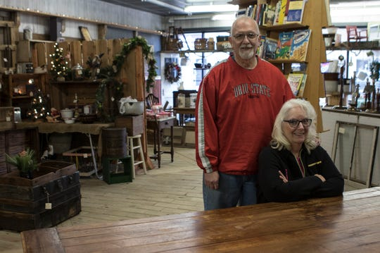 Jeff and Debbie Dalzell who opened their antique store, Now and Then & Over Again, a couple years ago in Utica.
