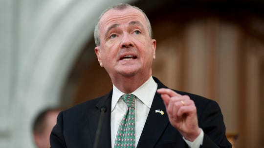 Gov. Phil Murphy delivers a speech about the state budget on Tuesday, March 5, 2019, in Trenton.