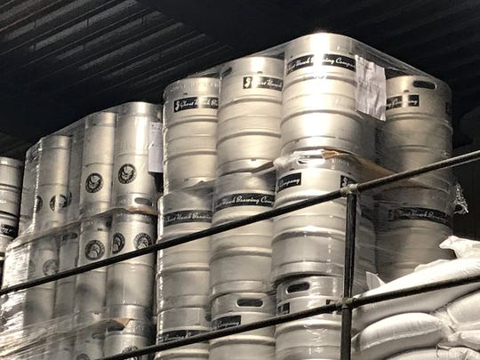 When it is time, possibly in the next couple of weeks, Ghost Hawk will begin selling its beer, initially in kegs like these to local bars.