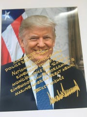 Ringwood Police Department received a personalized photo from President Donald Trump March 2, 2019.