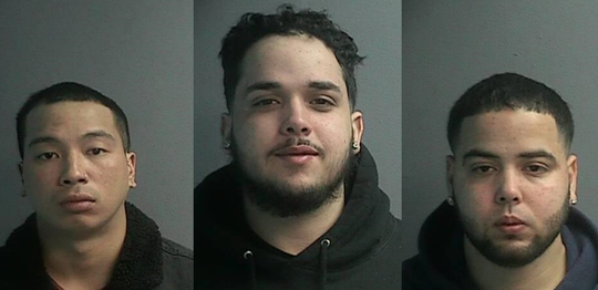 Raymond Morales, 26; Nelphy Peralta, 21; and Jewry Peralta-Reyes, 25, all of Wayne.