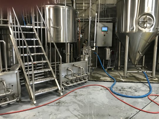 The brewery equipment at Ghost Hawk Brewing Company in Clifton.