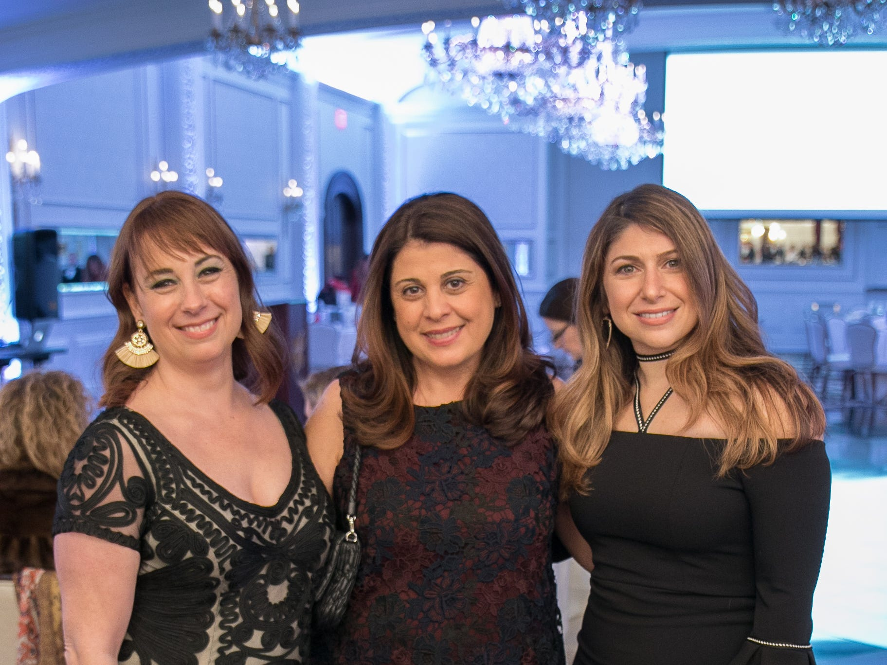 Morgan Freedman, Hilda Havtounian, Sylvia Buzantian. Spring Lake Toys Foundation held it's Night on the Town Gala at Macaluso's in Hawthorne. Money raised benefits children with illnesses to assist in all their financial needs. 03/01/2019