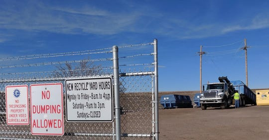 A once 24-7 recycling yard at the Old Foothills Landfill in Las Cruces now has a fence around it and limited hours.