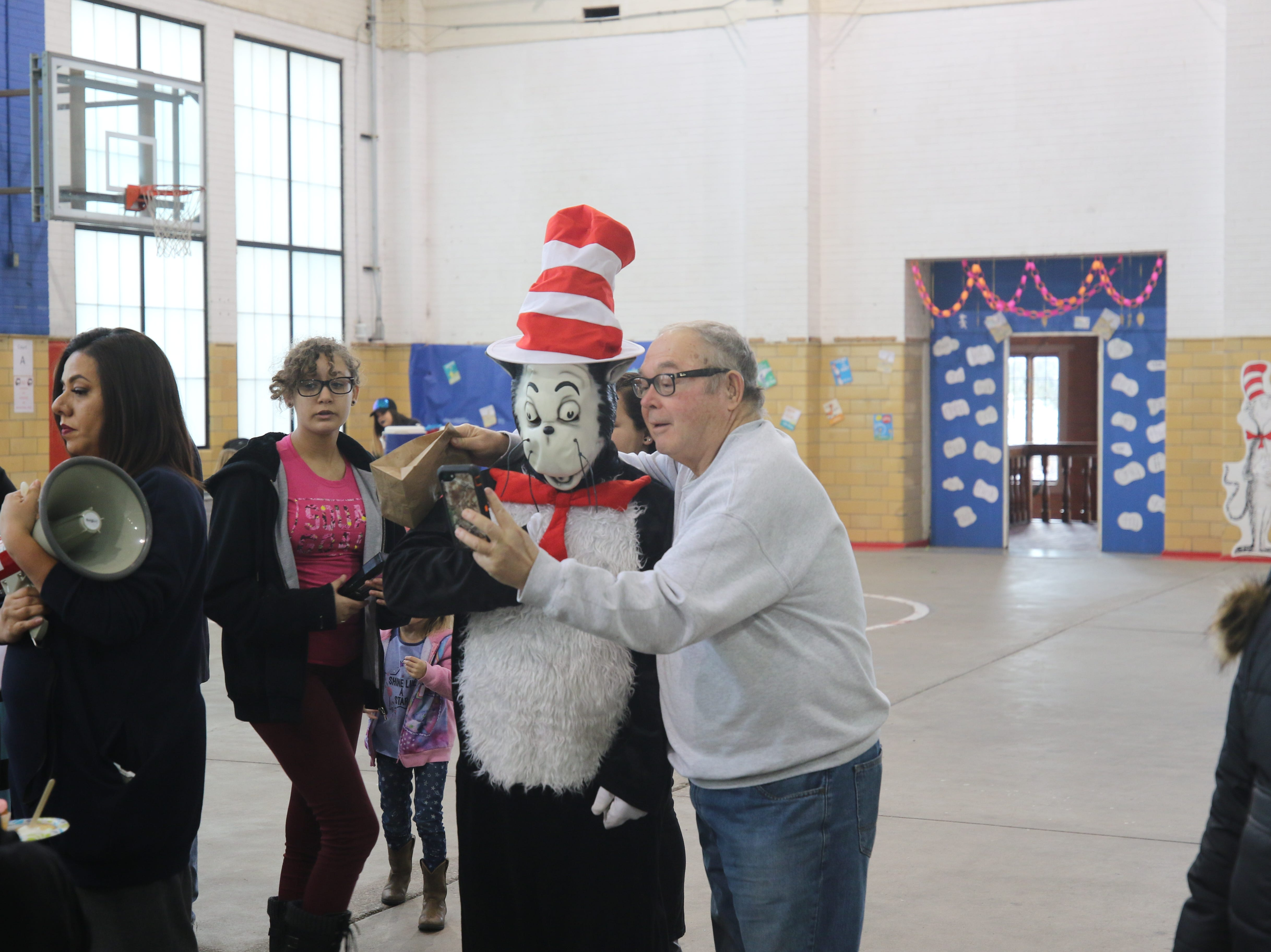 Selfies were abundant at the Riverside Recreation Center which celebrated Dr. Seuss' birthday.