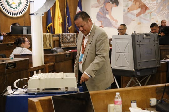 Navajo Nation Council Delegate Mark Freeland sponsored the emergency legislation to allocate $3 million in supplemental funding to help chapters response to the recent winter weather.