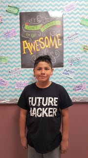 Anthony Hernandez has been chosen as White Mountain Elementary school's February Student of the Month. Anthony is respectful, kind, courteous and eager to help his fellow classmates.