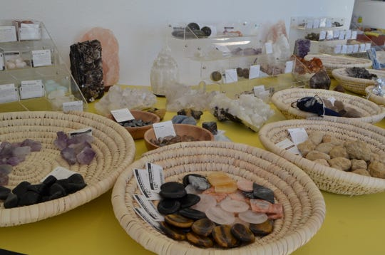 Wine & Rock Shop in Yucca Valley offers a curated selection of crystals.