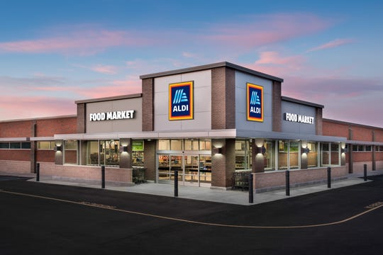 A rendering of a typical Aldi grocery store.