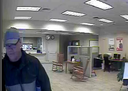 The Santa Rosa County Sheriff's Office has released this photo of a suspect wanted in connection to a bank robbery at United Bank, 3615 U.S. 90 in Pace.