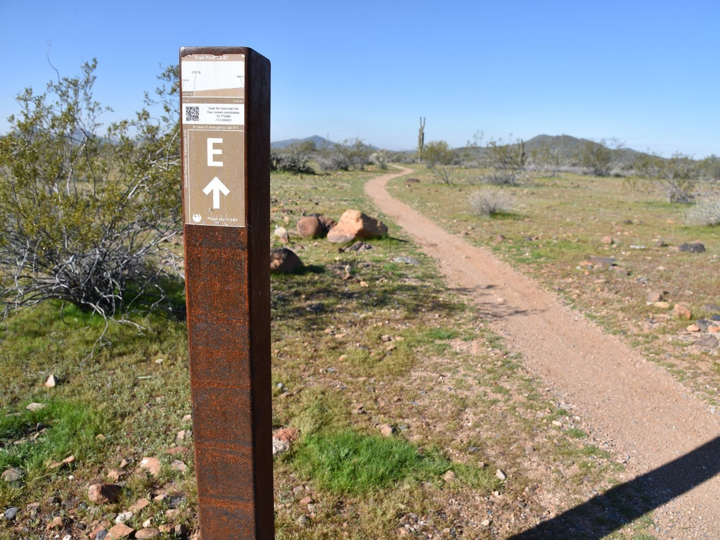 Phoenix Sonoran Preserve Trails are well-signed.