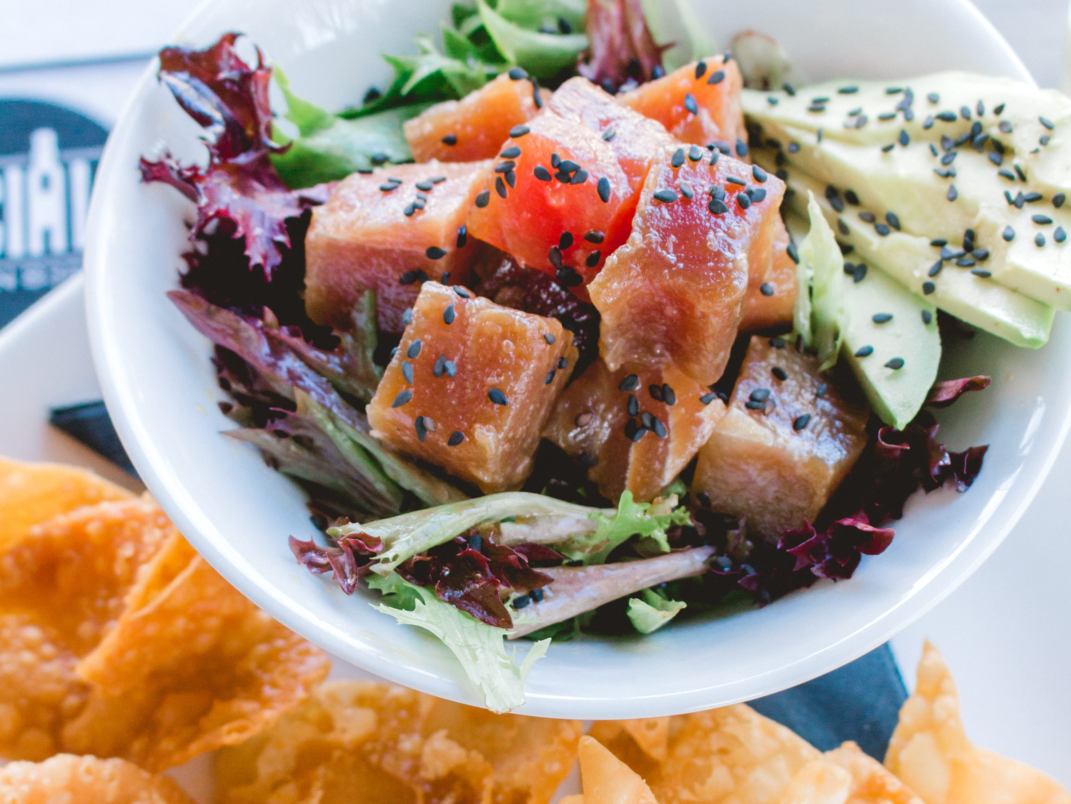 The ahi poke bowl at the Social on 83rd.