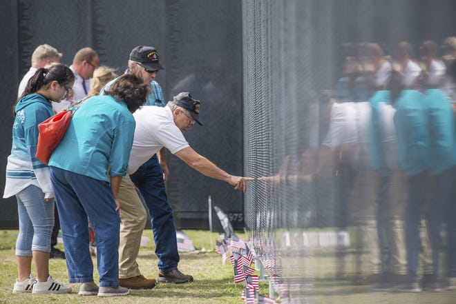 The Wall That Heals is a replica of the Vietnam Veterans Memorial in Washington, D.C.