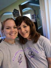 Tara Lowy (Left) raises awareness about Alzheimer's through a unique event.