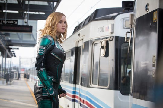 "Brie Larson plays the title character in ""Captain Marvel."""