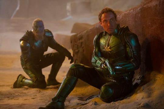 """Yon-Rogg (Jude Law) is leader of Starforce in """"Captain Marvel."""""""