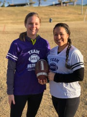 Local Blondes vs. Brunettes teams raise thousands for Alzheimer's research; Co-chairs Tara Lowy (left) and Ruby Montenegro (right)