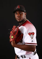 Rubby De La Rosa of the Arizona Diamondbacks poses for a photo during the annual Spring Training Photo Day on Feb. 20 at Salt River Fields in Scottsdale, Ariz.