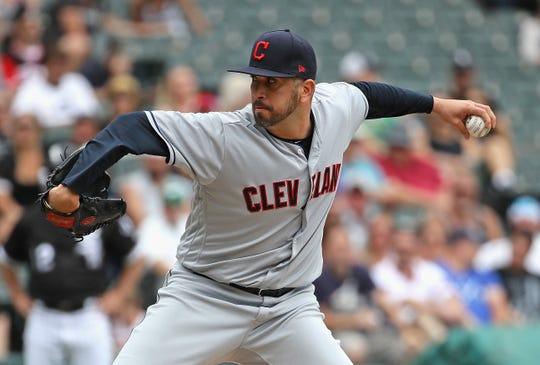 Oliver Pérez, lanzador de los Indios de Cleveland.