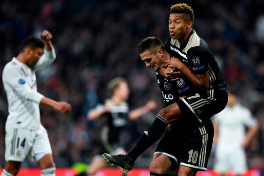 Ajax goleó 4-1 al Real Madrid