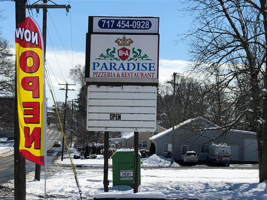 The new colorful sign for B&A Paradise Pizzeria replaced the landmark, black and white bulletin for the former Vinny's Goodtimes along Route 343 in Lebanon.