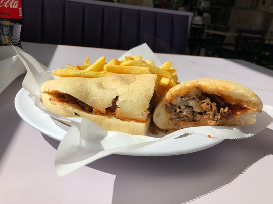 A small cheesesteak sub and French fries combo at B&A Paradise Pizzeria & Restaurant will really hit the spot.