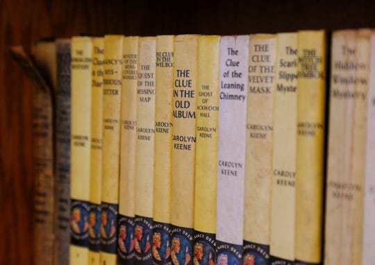 Some of Mary Heller's collection of Nancy Drew mysteries at her home in the Town of Poughkeepsie on March 1, 2019.
